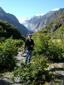 Franz Joseph Glacier, on the South Island of New Zealand