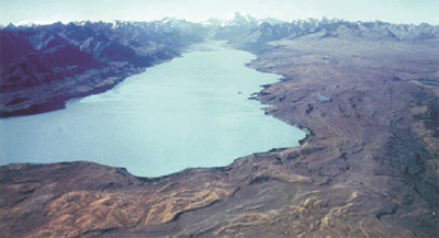 View of the Lake Pukaki basin