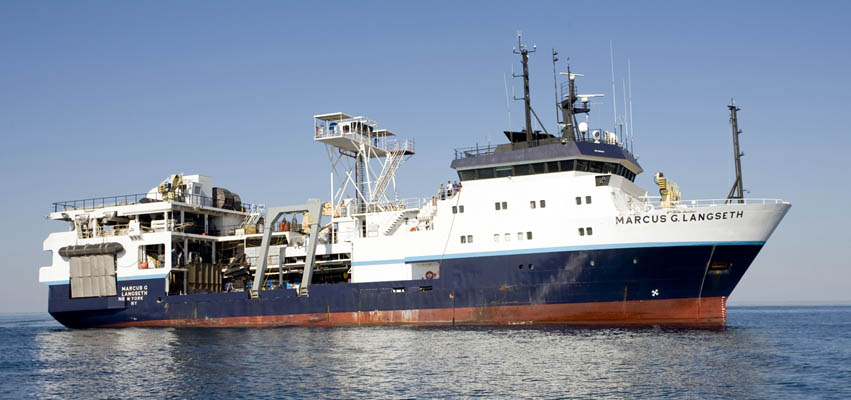 Image: R/V Langseth at sea