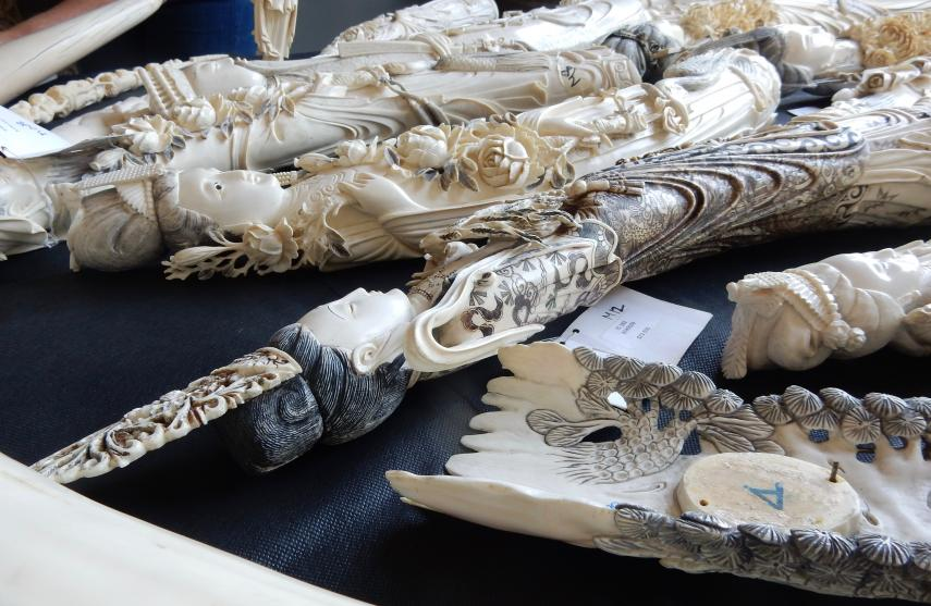 Despite a strict ban on ivory trafficking in NY, these pieces were found for sale in 2016.