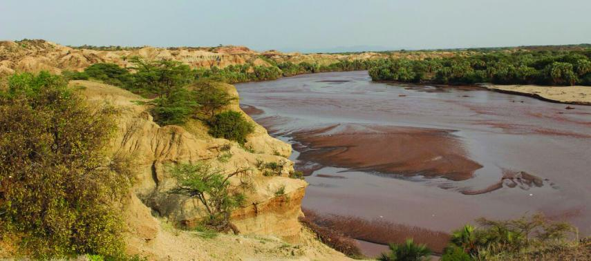 A view of the Turkwel River before it flows into Lake Turkana. Lake Turkana is the largest desert lake on Earth (Kevin Uno)