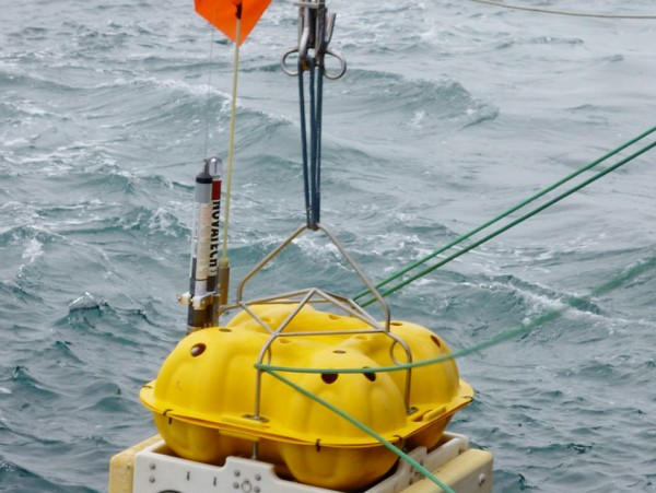 An advanced version of Lamont-Doherty's ocean bottom seismometers will be the basis for a new earthquake and tsunami monitoring and warning system. Photo: Donna Shillington/LDEO