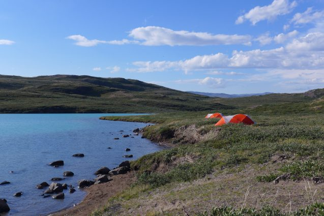 The team will set up camp along lakes that formed from ice sheet meltwater. (M. Turrin)