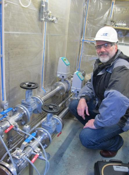 Martin Stute at Iceland's Hellisheidi Power Power, where CO2 is being piped underground. Stute describes the process in <a href=