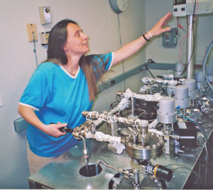gisela in the lab