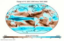 Global precipitation minus evaporation