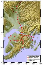 MOOS Seismic Array Map - Alaska