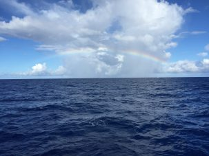 rainbow over the North Pacific Ocean