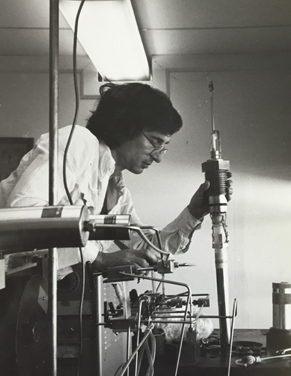 Scholz in the early years of the Rock Mechanics Lab at Lamont