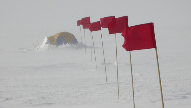 Powerful Antarctic winds and vaporizing an estimated 80 billion tons of snow per year, according to a new study. Photo: Ted Scambos/NSIDC