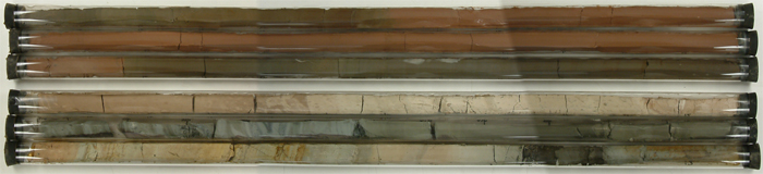 Cores in glass tubes