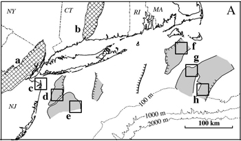 Carbon sequestration  basalt map of the east coast