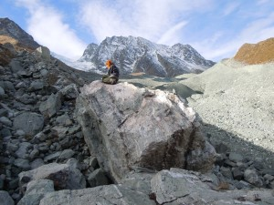 Irene Schimmelpfennig sampled moraines on Switzerland's Tsidjiore Nouve Glacier in 2010 to measure its movement over the last 10,000 years.