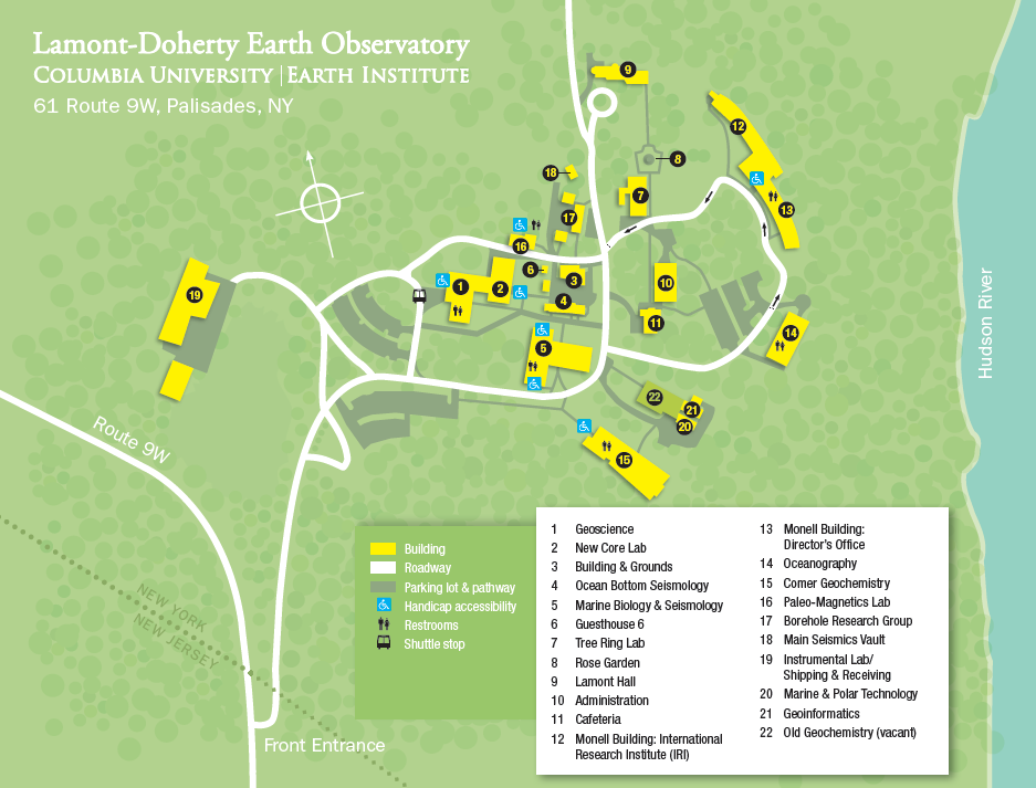 Maps & Contacts | Lamont-Doherty Earth Observatory