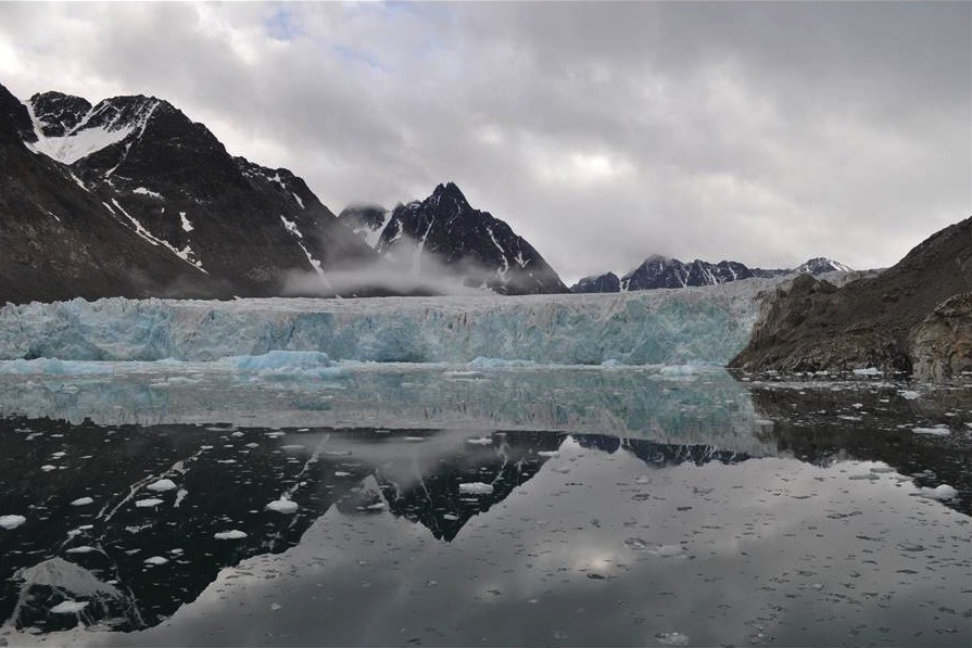 Glaciers on Svalbard are retreating rapidly. (Billy D'Andrea)