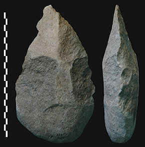 Early humans were using stone hand axes as far back as 1.8 million years ago.