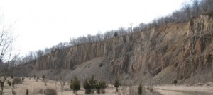 Ancient lava flow exposed near Martinsville, N.J.