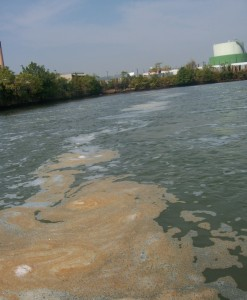 New York's clean-up of the Newtown Creek Superfund site appears to be releasing sewage bacteria and other particles into the air, a new study says. (Environ. Sci. Technol. DOI: 10.1021/es301870t. Copyright 2012 American Chemical Society)
