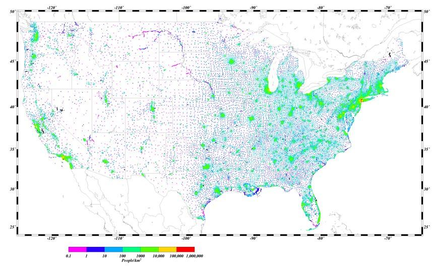 US Density Map - Us density map